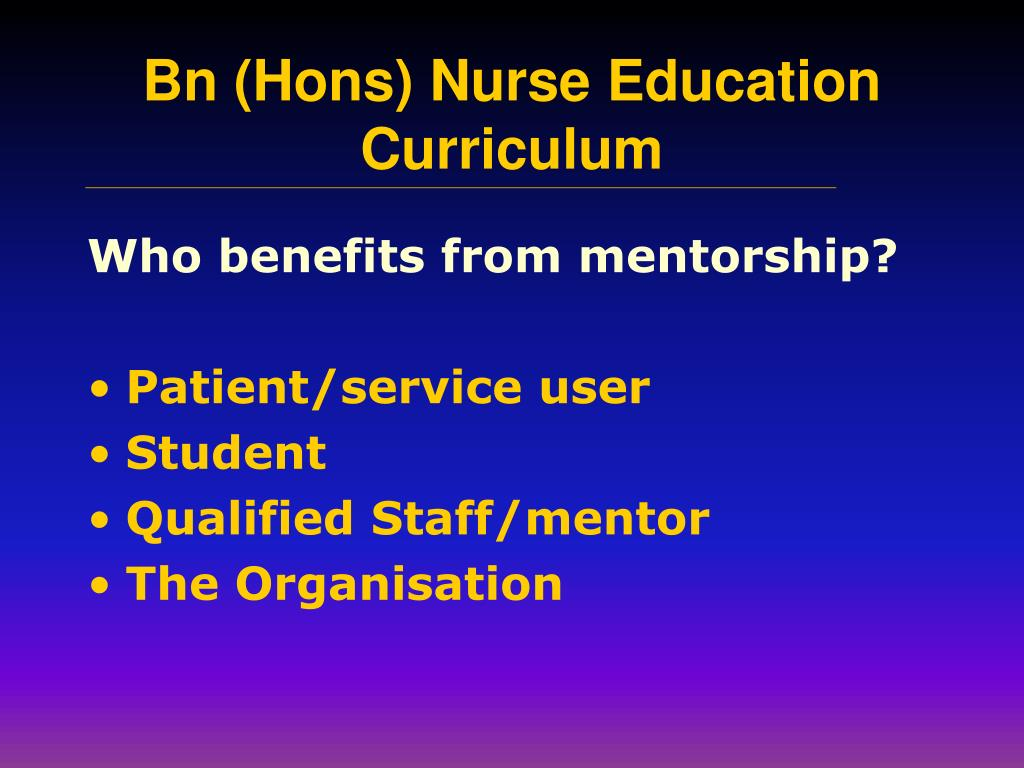 Who benefits from mentorship?