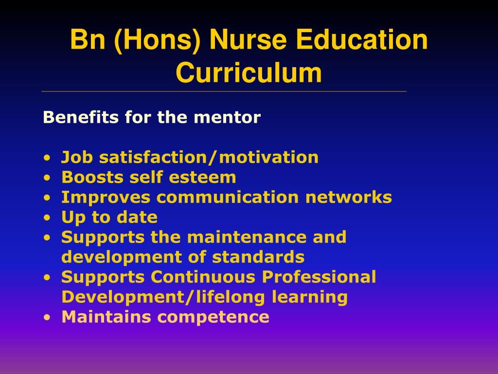 Benefits for the mentor
