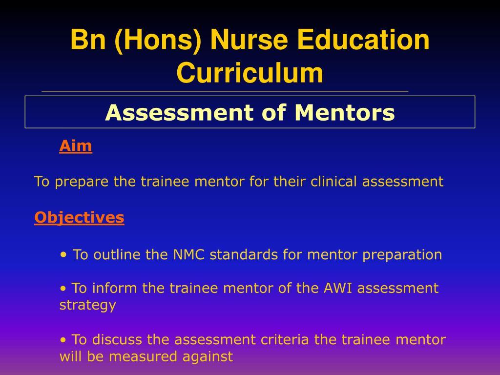 Assessment of Mentors