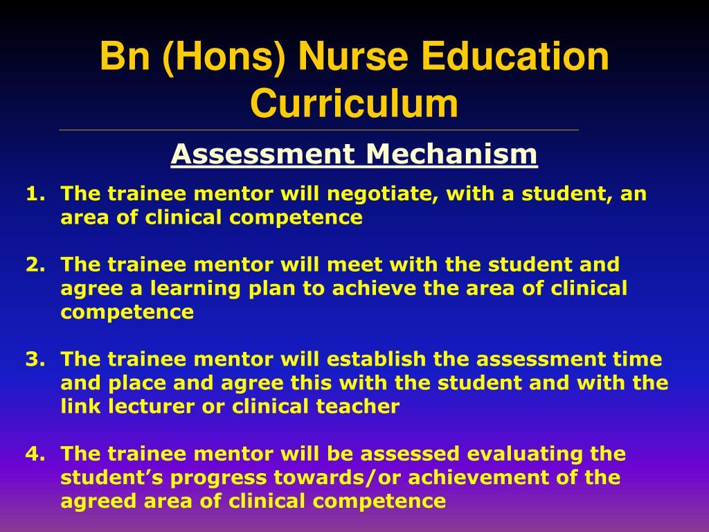 Assessment Mechanism