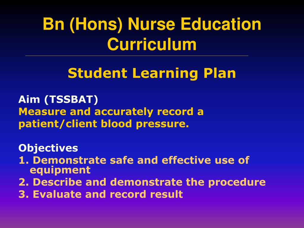Student Learning Plan