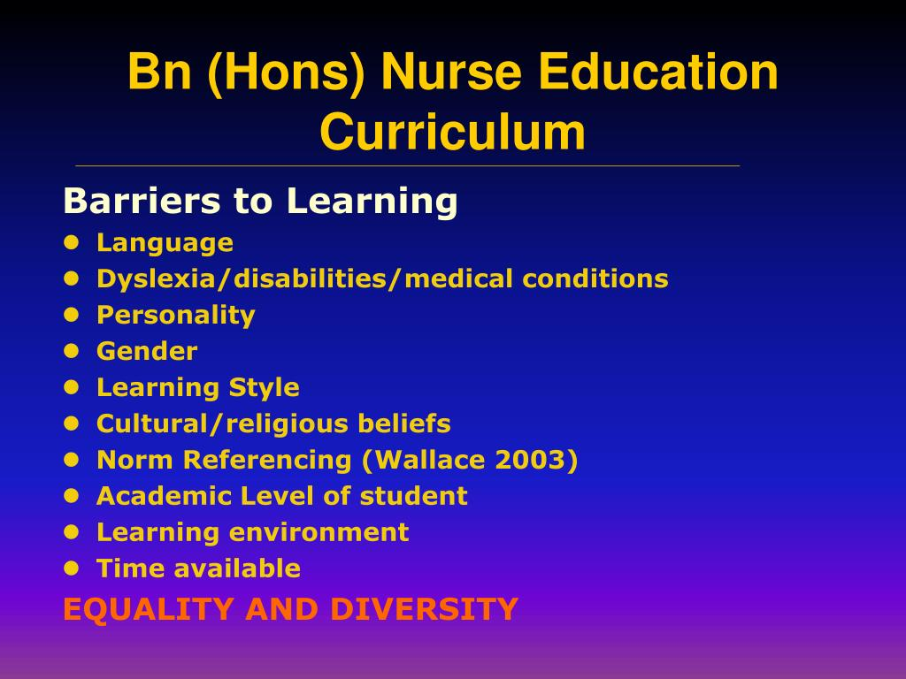 Barriers to Learning