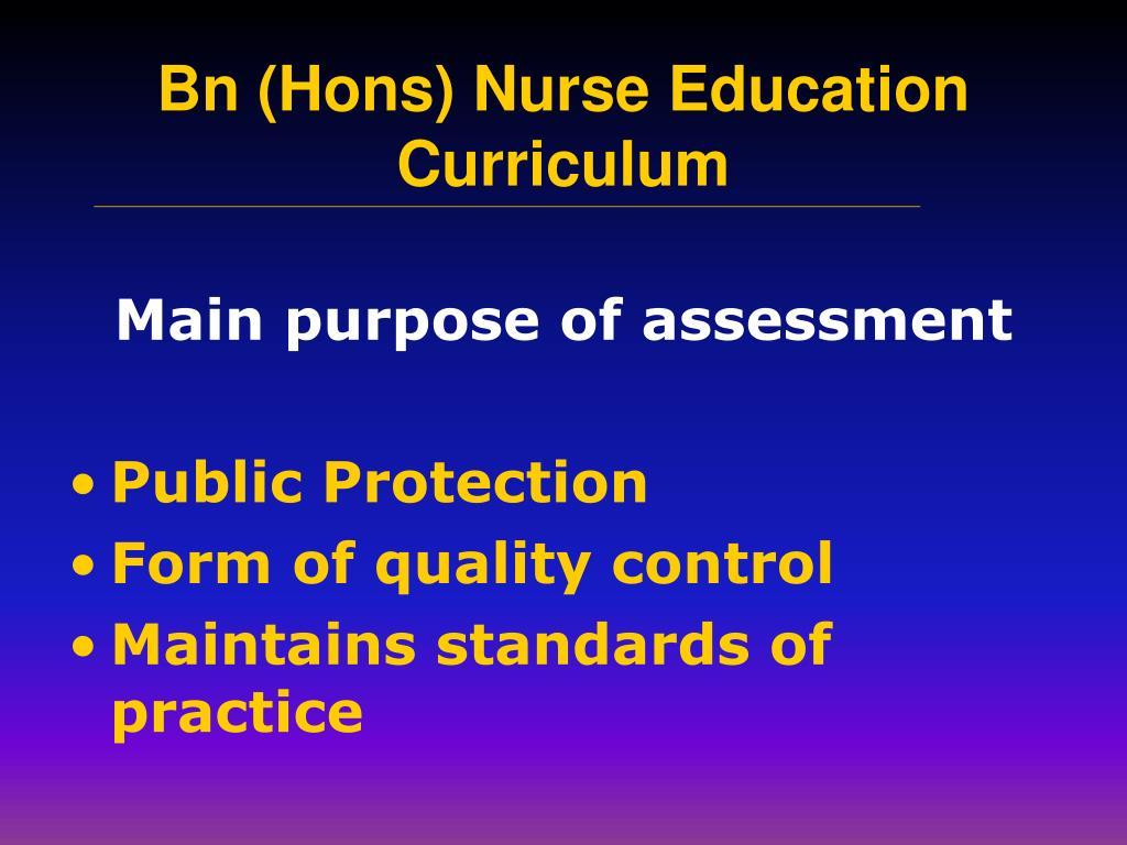 Main purpose of assessment