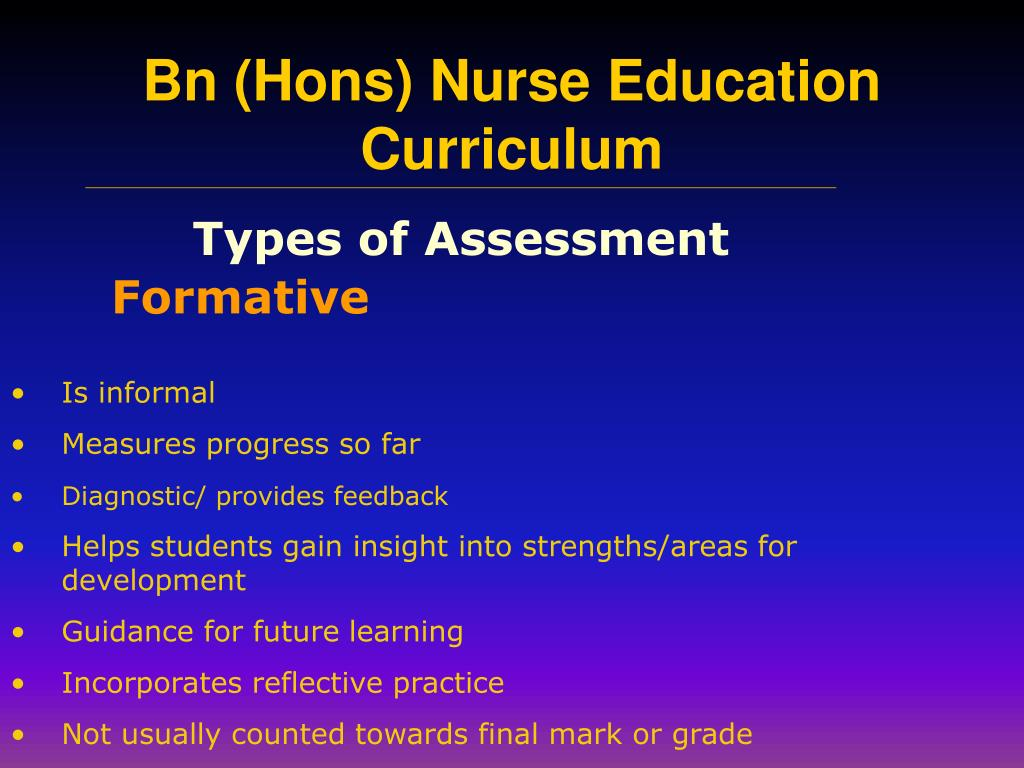 Types of Assessment