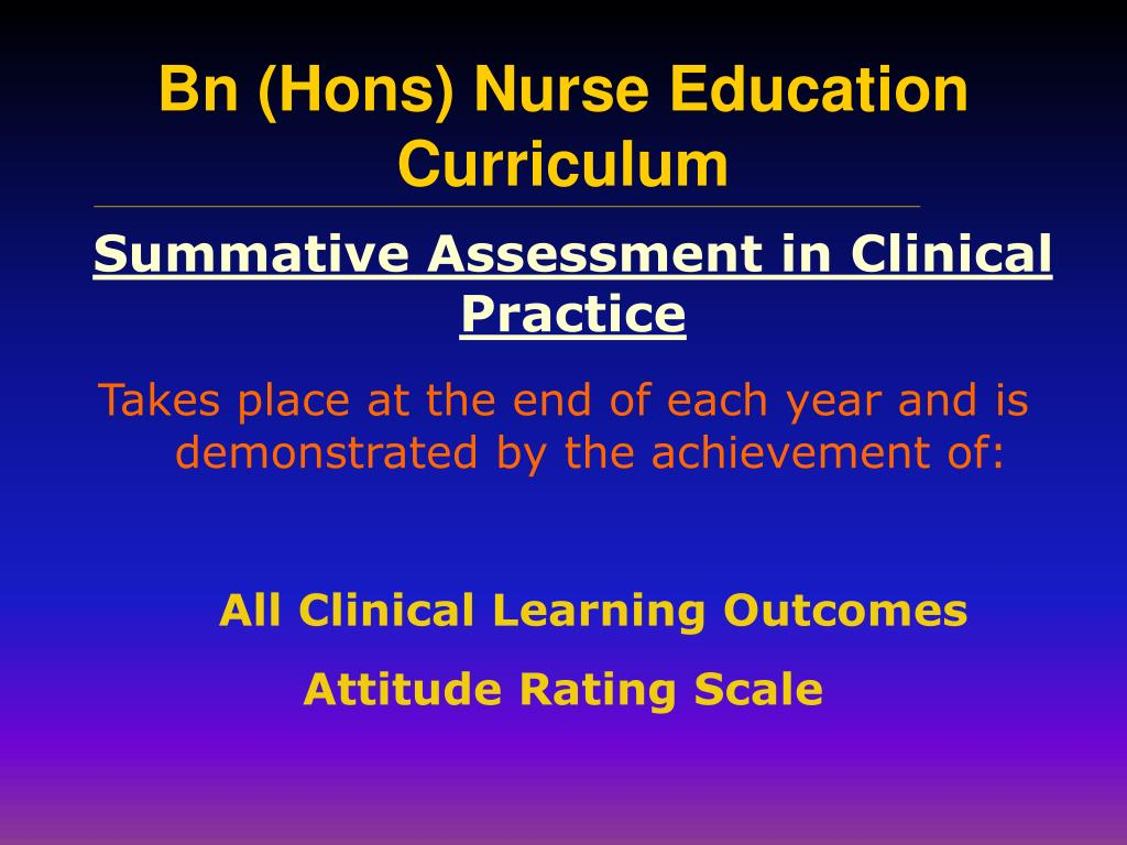 Summative Assessment in Clinical Practice