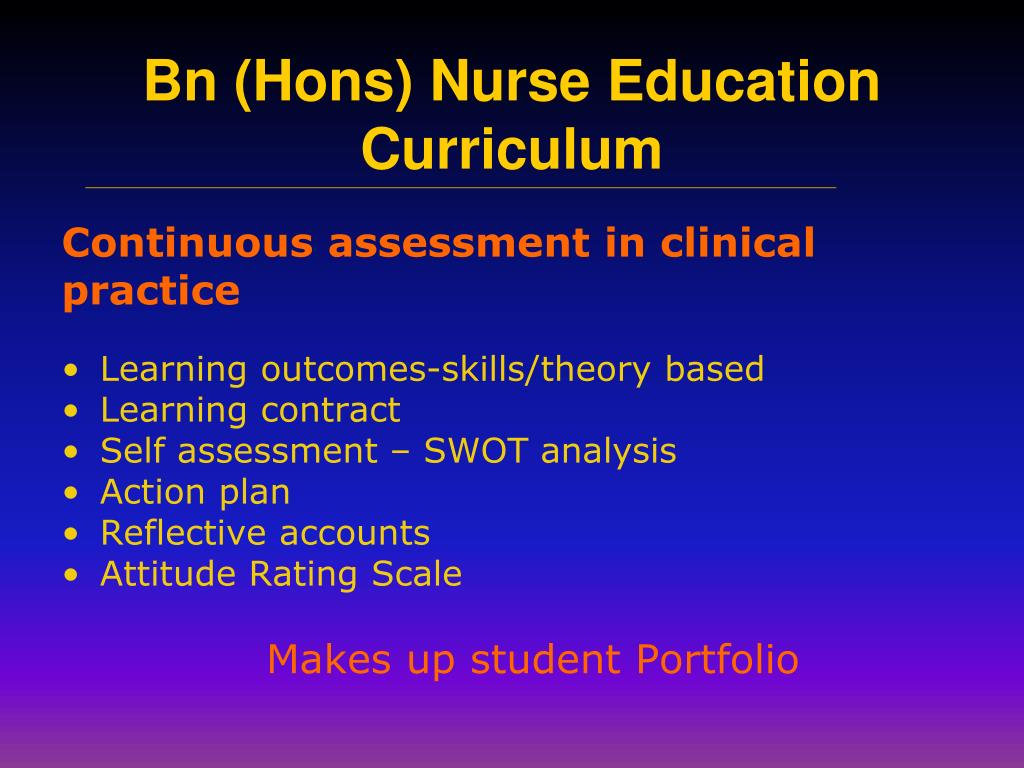 Continuous assessment in clinical