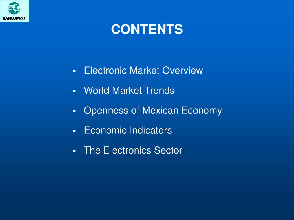 Electronic Market Overview
