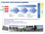 a key factor direct technical capabilities