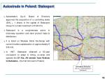 autostrade in poland stalexport