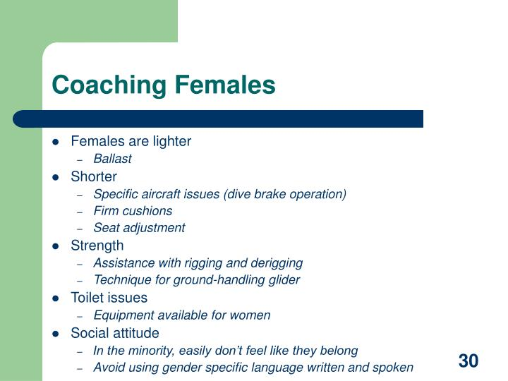 Coaching Females