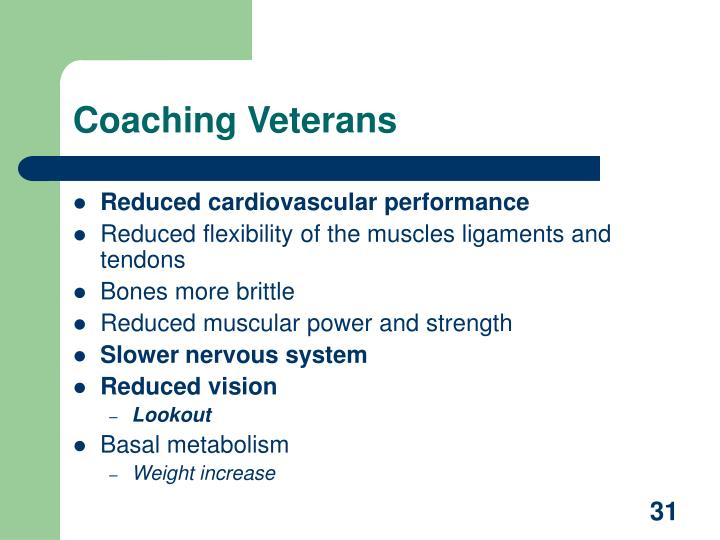 Coaching Veterans