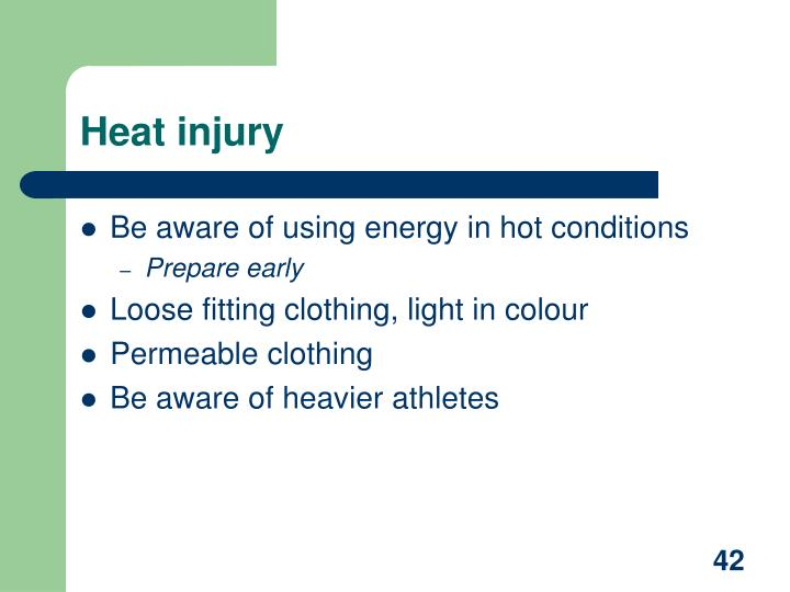 Heat injury