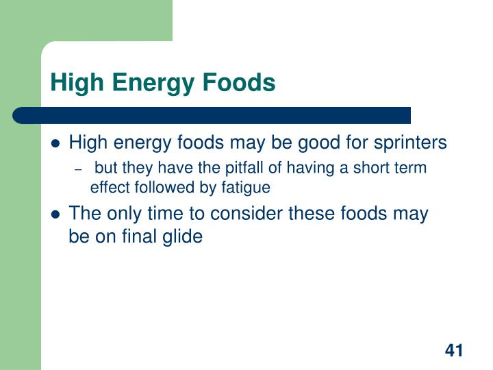 High Energy Foods