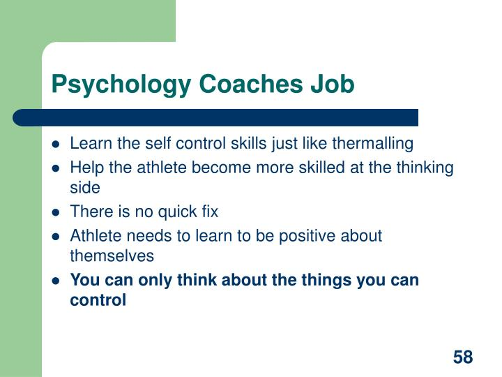 Psychology Coaches Job