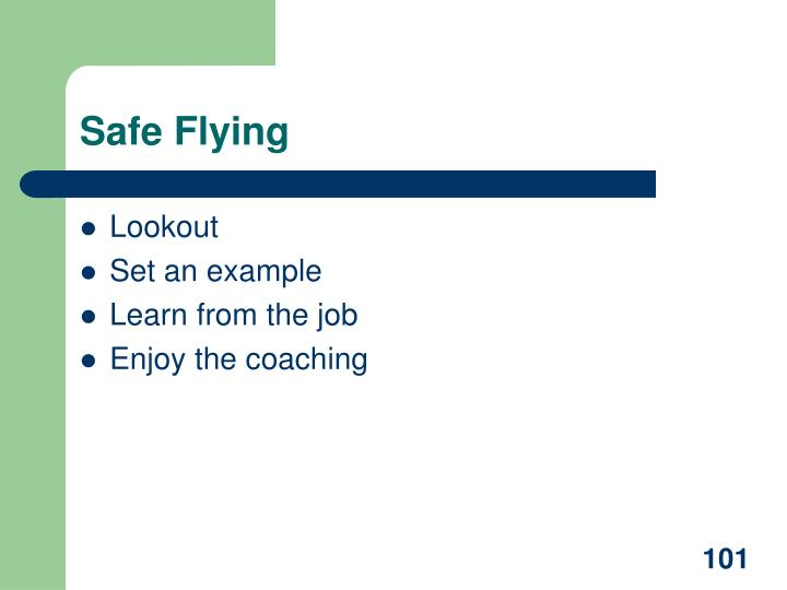 Safe Flying