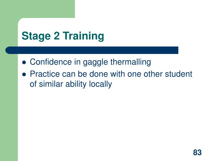 Stage 2 Training