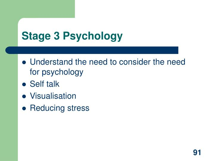 Stage 3 Psychology