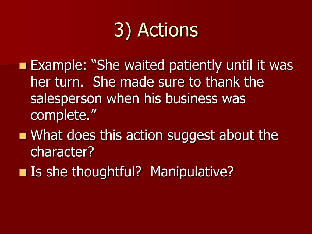 3) Actions