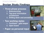 design study findings