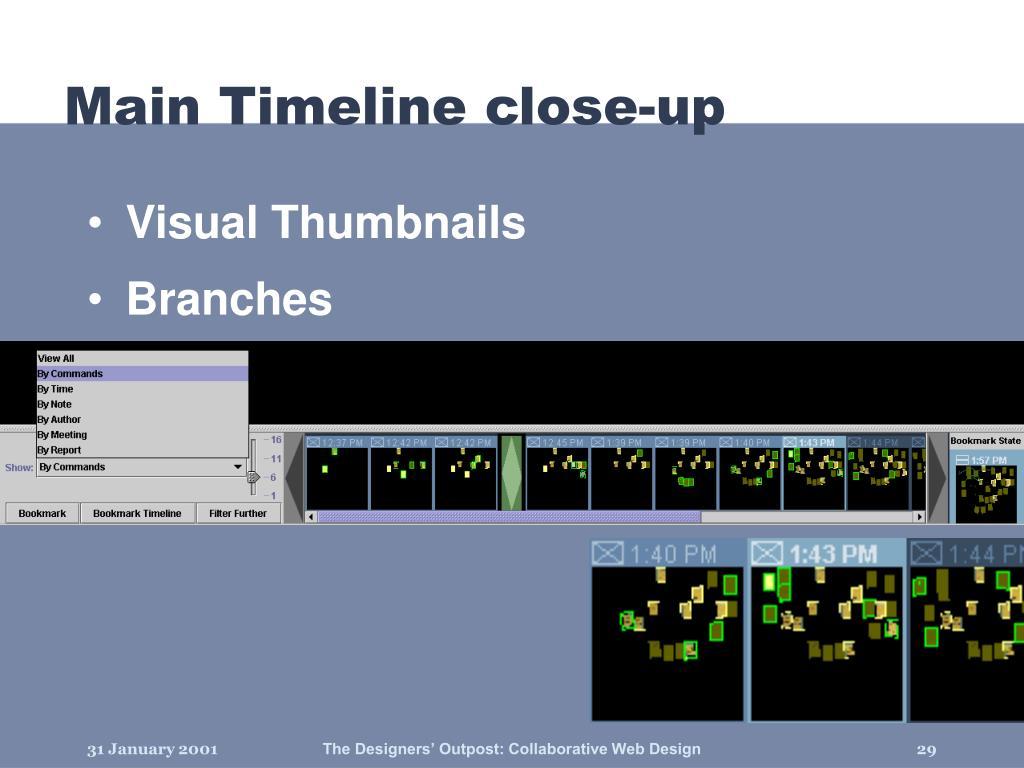 Main Timeline close-up