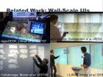 related work wall scale uis
