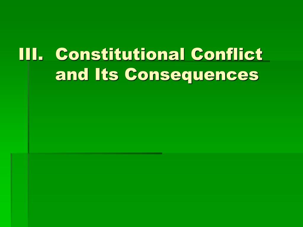 Constitutional Conflict