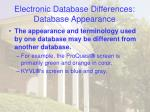 electronic database differences database appearance