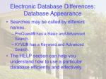 electronic database differences database appearance22