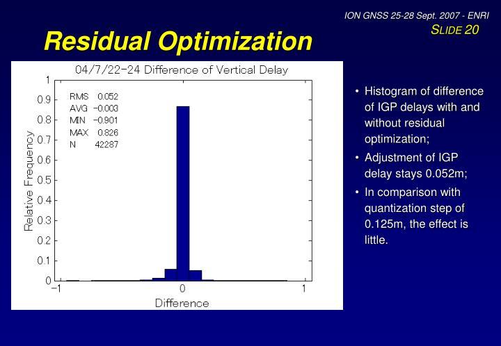 Residual Optimization