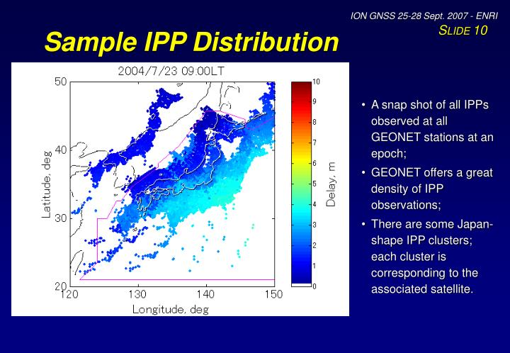 Sample IPP Distribution