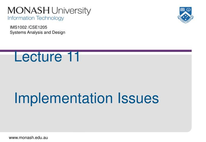 Ims1002 cse1205 systems analysis and design
