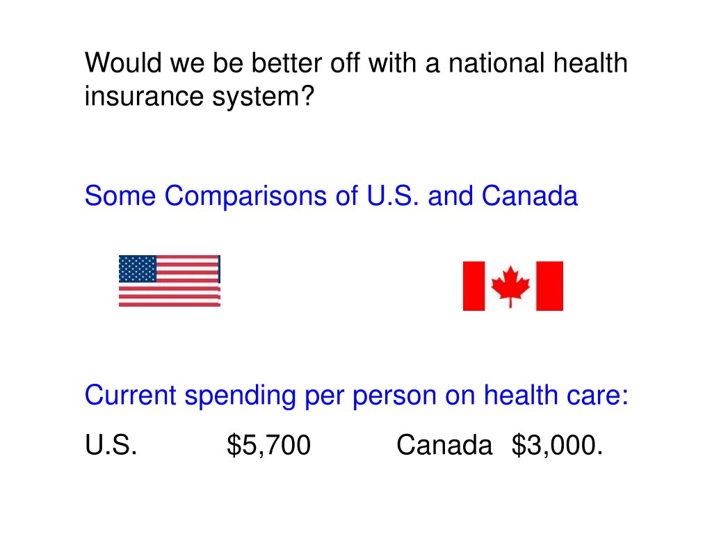 Would we be better off with a national health insurance system?