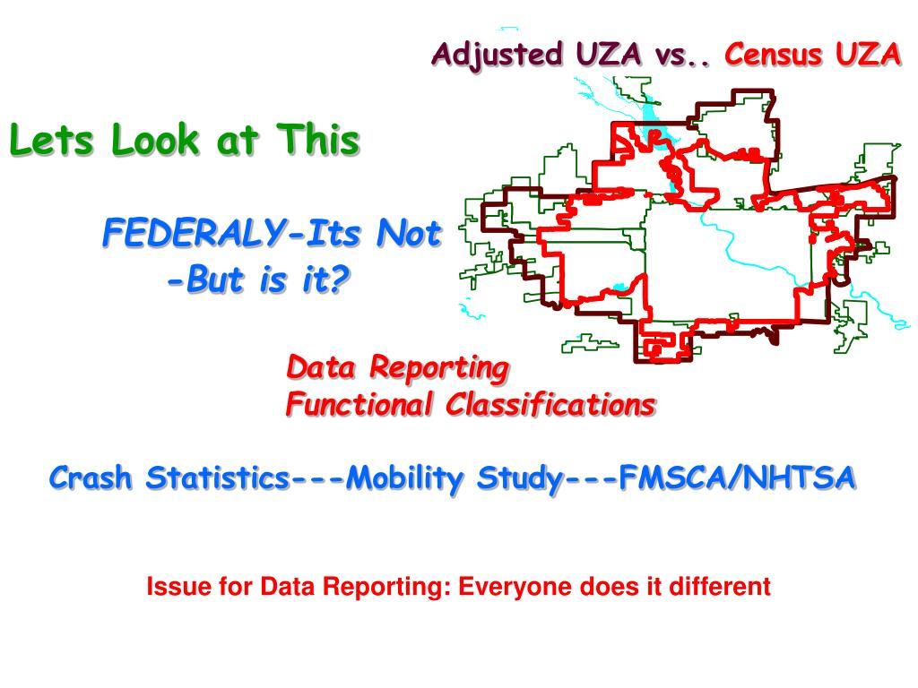 Adjusted UZA vs..