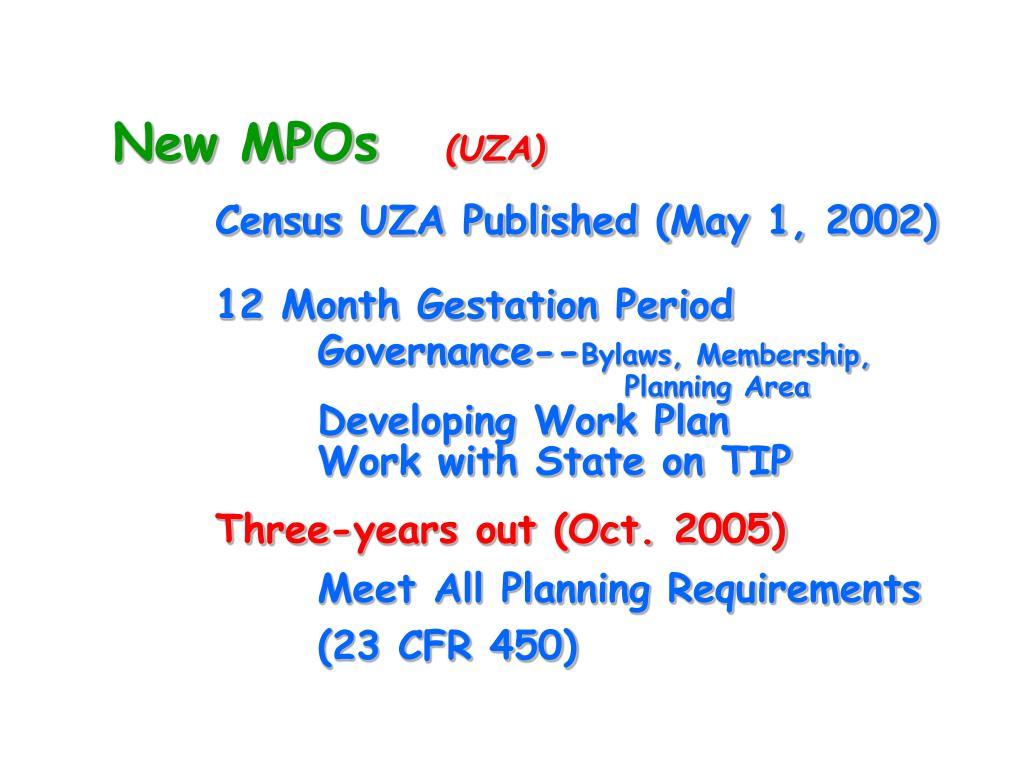 New MPOs