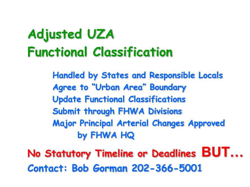 Adjusted UZA
