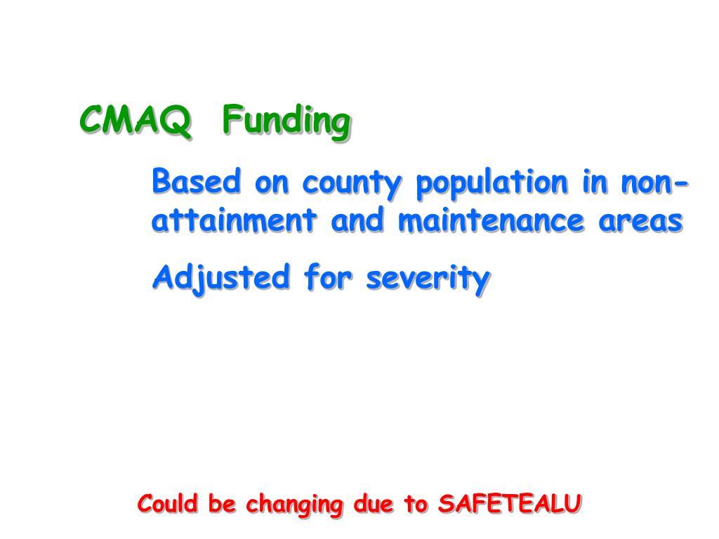 CMAQ  Funding