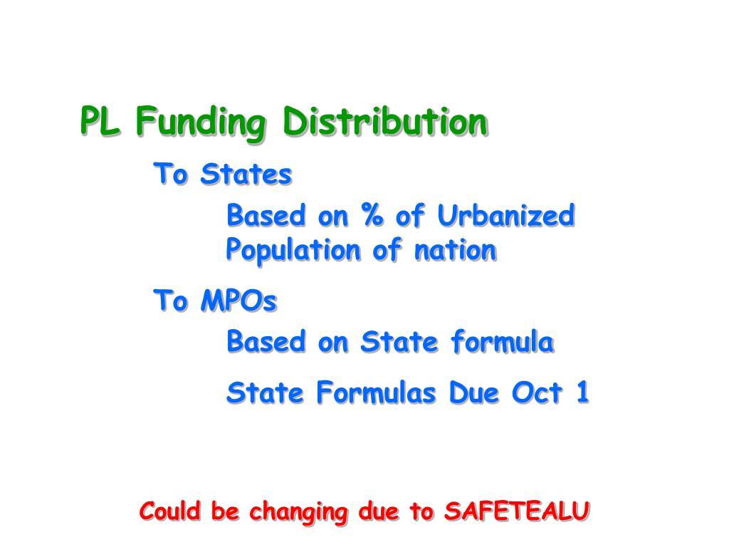 PL Funding Distribution