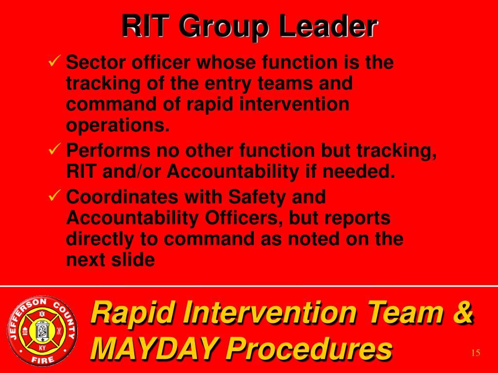 RIT Group Leader