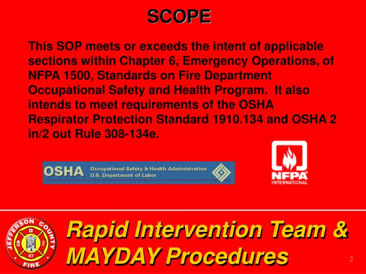 Rapid intervention team mayday procedures2