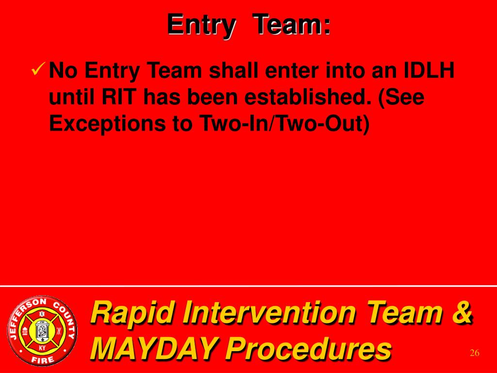 Entry  Team: