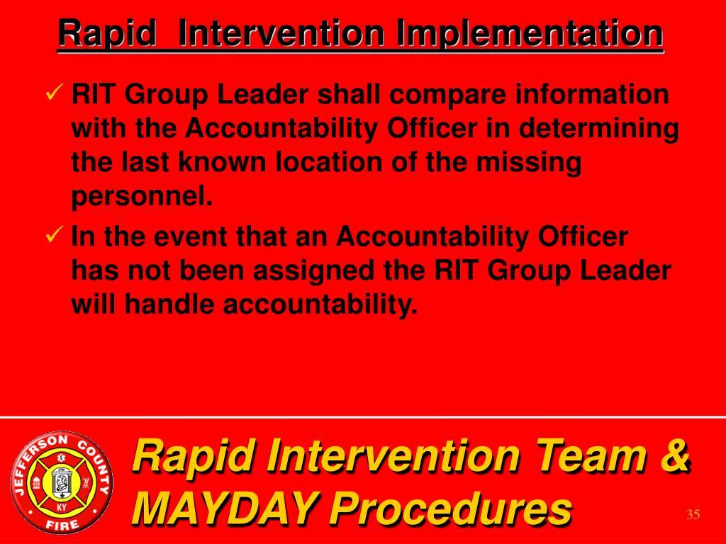 Rapid  Intervention Implementation