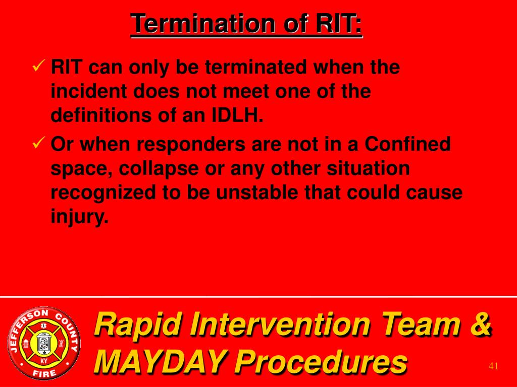 Termination of RIT: