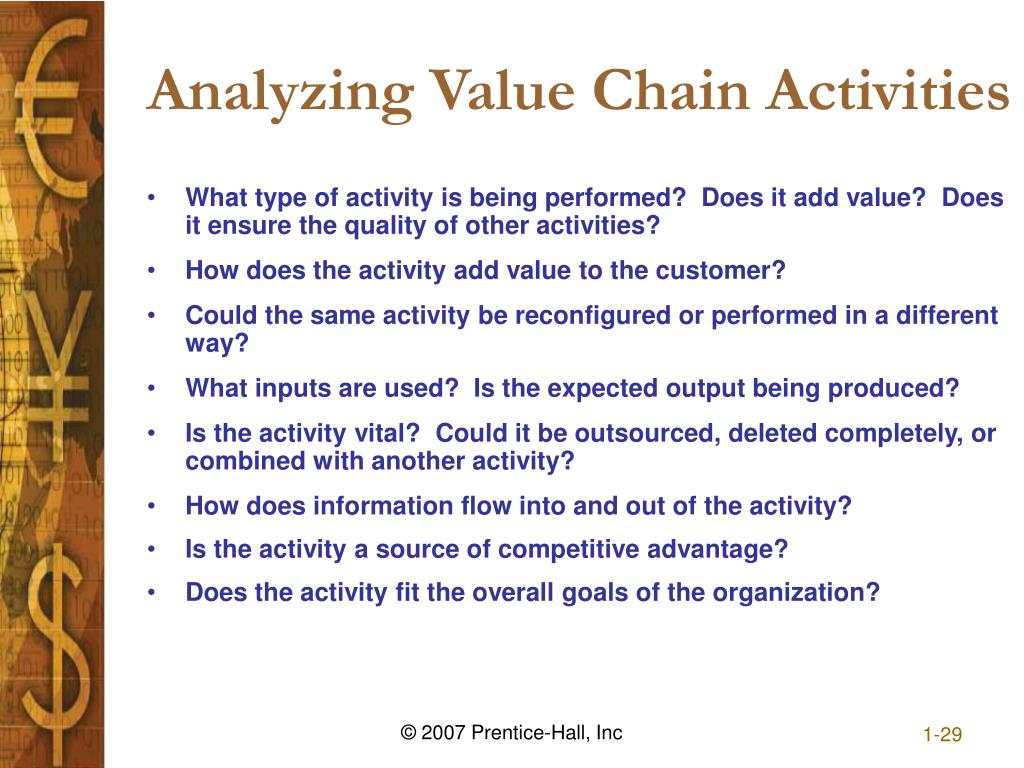 Analyzing Value Chain Activities