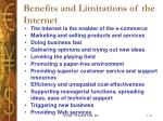 benefits and limitations of the internet