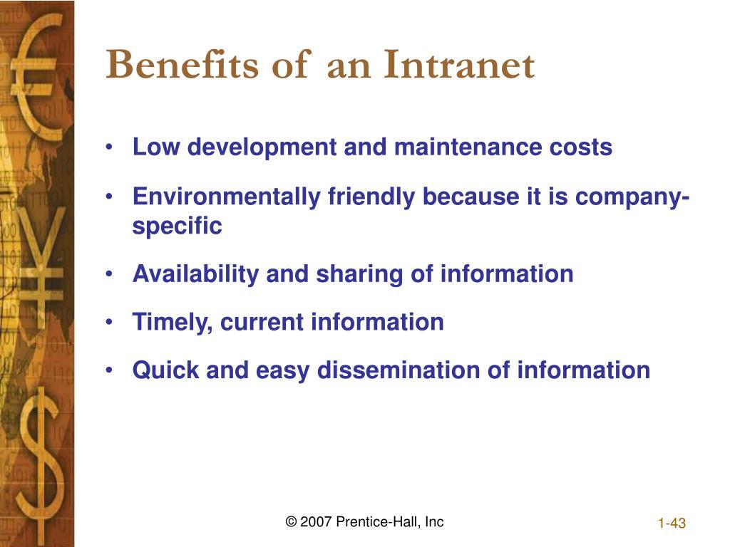 Benefits of an Intranet