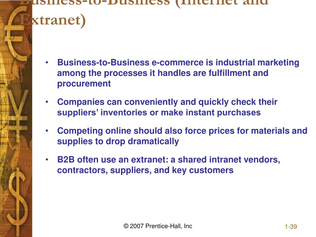 Business-to-Business (Internet and Extranet)