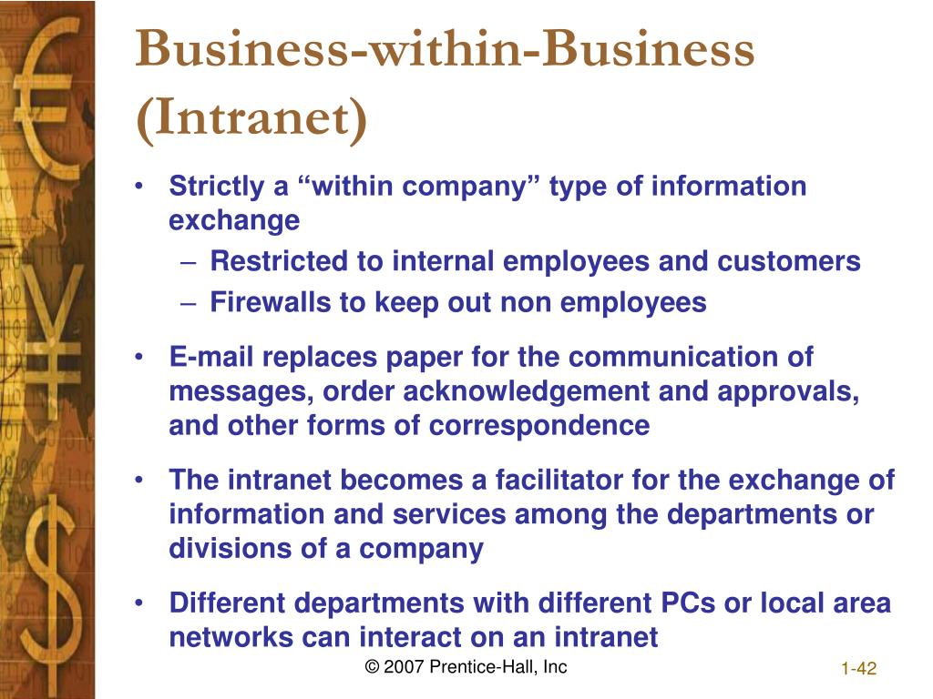 Business-within-Business (Intranet)