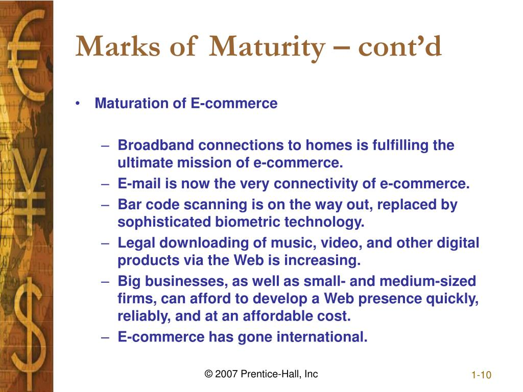 Marks of Maturity – cont'd
