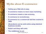 myths about e commerce