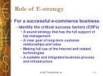 role of e strategy